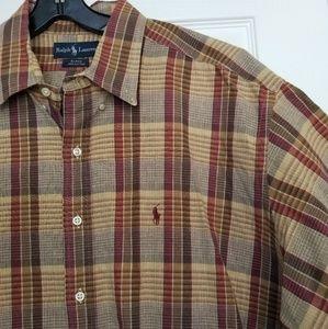 Ralph Lauren Fall plaid button down shirt 2XL